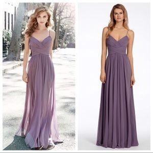 Hayley Paige Occasions purple chiffon dress - 5704